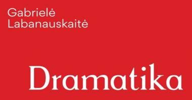 """Gabrielės Labanauskaitės knygos """"Dramatika"""" viršelio fragmentas. Dizaineris Tadas Karpavičius"""