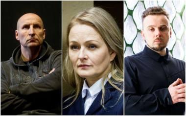 "Spektaklio ""Julija"" kūrėjai: Sigitas Parulskis, Jolanta Dapkūnaitė, Kirilas Glušajevas. LNDT koliažas"