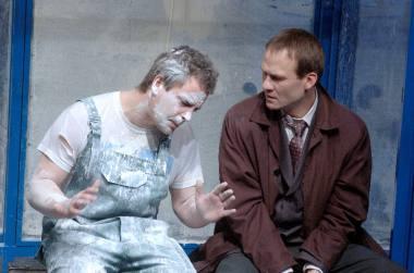 """Scena iš spektaklio """"Miestas"""", režisierius Saulius Mykolaitis. Dmitrijaus Matvejevo nuotrauka"""