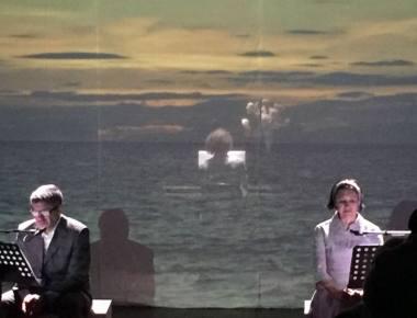 "Scena iš spektaklio ""Agata"". Karolio Bratkausko nuotrauka"