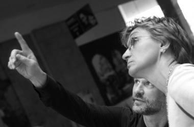 Vienas iš Lietuvos šokio informacijos centro įkūrėjų Audronis Imbrasas ir šokio kritikė Vita Mozūraitė. Dmitrijaus Matvejevo nuotrauka