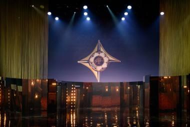 """Akimirka iš """"Auksinių scenos kryžių"""" apdovanojimų LNOBT. Martyno Aleksos nuotrauka"""