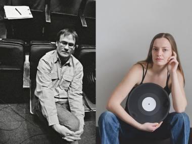 Saulius Mykolaitis ir Justina Mykolaitytė. Fotokoliažas iš Dmitrijaus Matvejevo ir Bon Alog nuotraukų