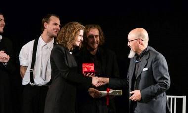 Kamilė Gudmonaitė apdovanojimo ceremonijoje Milane. Renginio organizatorių nuotrauka