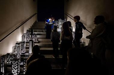 """Scena iš spektaklio """"Apie baimes"""". Lauros Vansevičienės nuotrauka"""