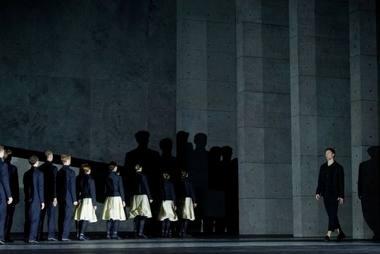 """Scena iš baleto """"Procesas"""". Martyno Aleksos nuotrauka"""
