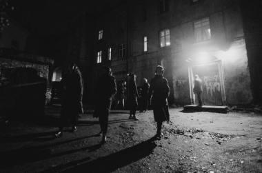 """Akimirka iš garso patirties Vilniaus gete """"Glaistas"""". Modesto Endriuškos nuotrauka"""