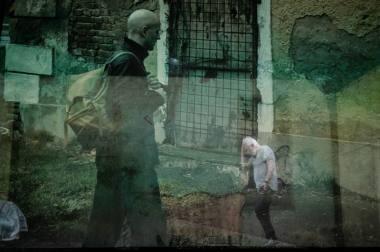 """Scena iš spektaklio """"Austerlicas"""", režisierius Krystianas Lupa. Lauros Vansevičienės nuotrauka"""