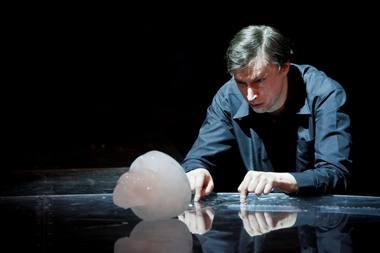 Vainiaus Sodeikos Hamletas ir ledo kaukolė. NKDT nuotrauka