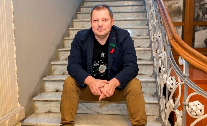 Rašytojas Rimantas Kmita. Romo Jurgaičio (lzinios.lt) nuotrauka