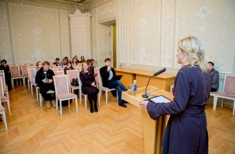 """Ministrė Liana Ruokytė-Jonsson pristato """"Kultūrą 2030"""". Josvydo Elinsko (15min.lt) nuotrauka"""