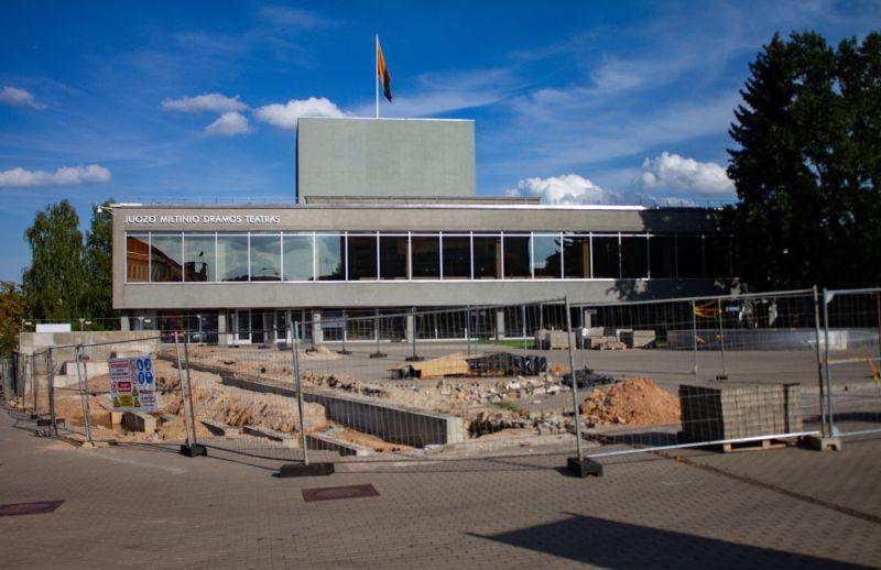 Juozo Miltinio dramos teatro rekonstrukcija. Luko Varanausko nuotrauka