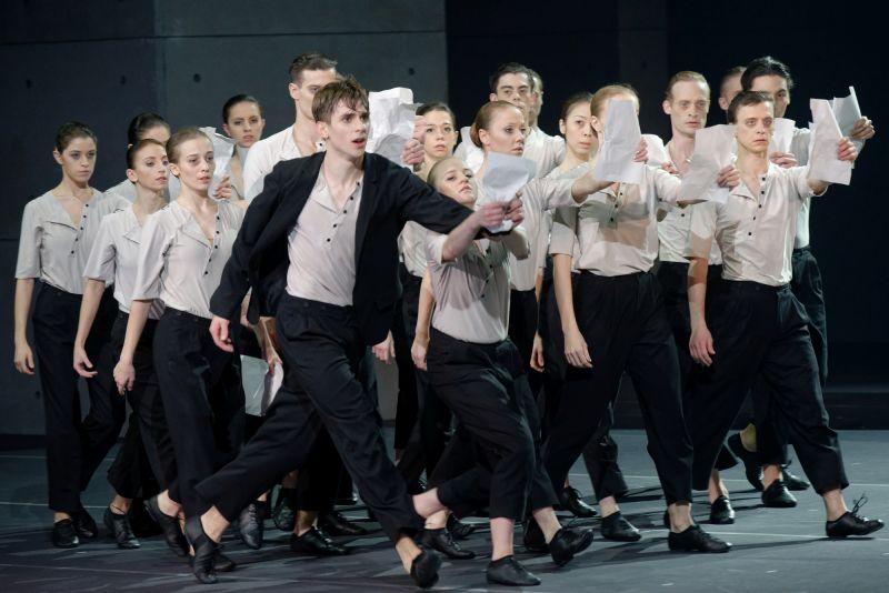 """Jozefo K. vaidmenyje Jeronimas Krivickas, baletas """"Procesas"""". Martyno Aleksos nuotrauka"""