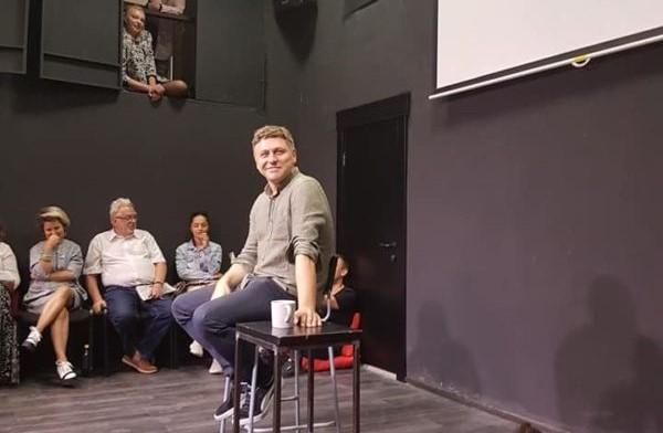 Dramaturgas Marius Ivaškevičius Liubimovkos festivalyje Maskvoje. Ingos Vidugirytės nuotrauka