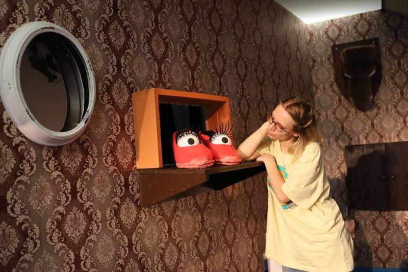 """Pagrindinį Onos vaidmenį kuria Indrė Storpirštienė. Nuotrauka iš Vilniaus teatro """"Lėlė"""" archyvo."""