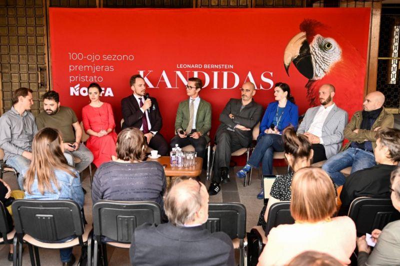 """LNOBT premjeros """"Kandidas"""" spaudos konferencija. Martyno Aleksos nuotrauka"""