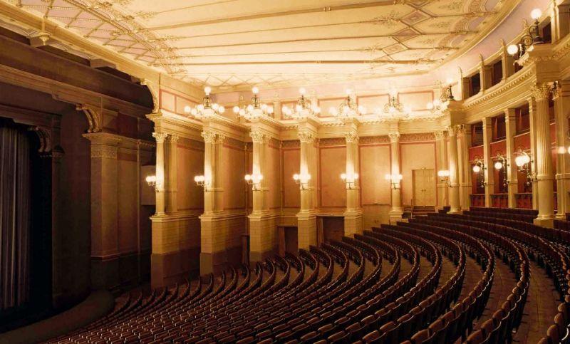 Richardo Wagnerio operų festivaliui skirtas teatras Bairoite, Vokietijoje. Nuotrauka iš https://www.adac-musikreisen.de