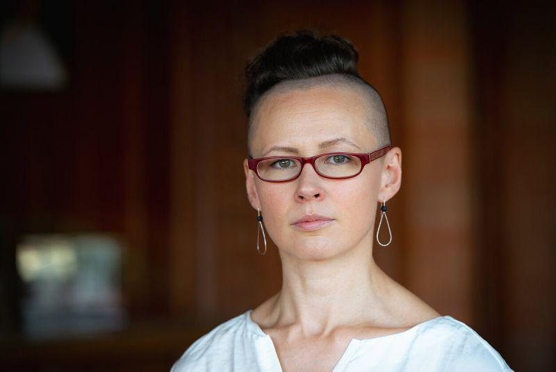 """Šokio operos """"Amžinybė ir viena diena"""" dramaturgė, šokio kritikė bei prodiuserė Ingrida Gerbutavičiūtė. Martyno Aleksos nuotrauka"""