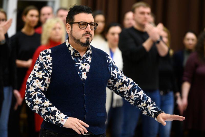 Kamenas Chanevas repeticijoje Lietuvos nacionaliniame operos ir baleto teatre. Martyno Aleksos nuotrauka