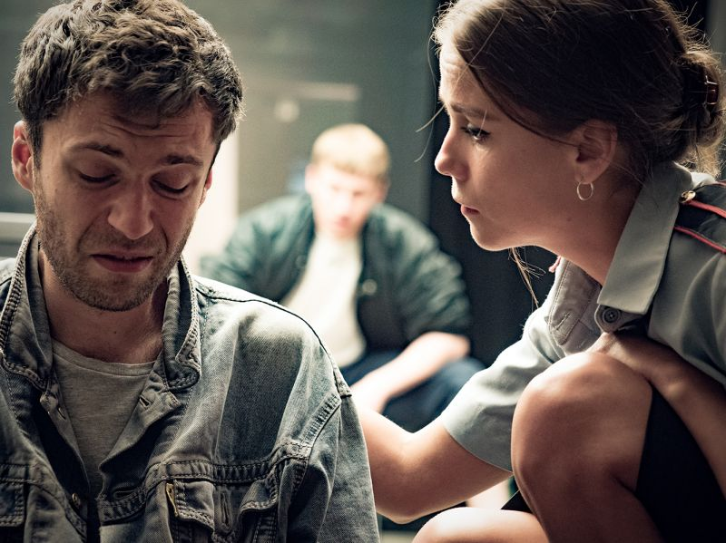 """Scena iš spektaklio """"Žmogus iš Podolsko"""". Dmitrijaus Matvejevo nuotrauka"""