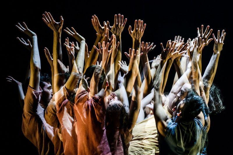 """Scena iš spektaklio """"Norėčiau būti paparčio žiedu"""", choreografė Bea Debrabant. Lauros Vansevičienės nuotrauka"""