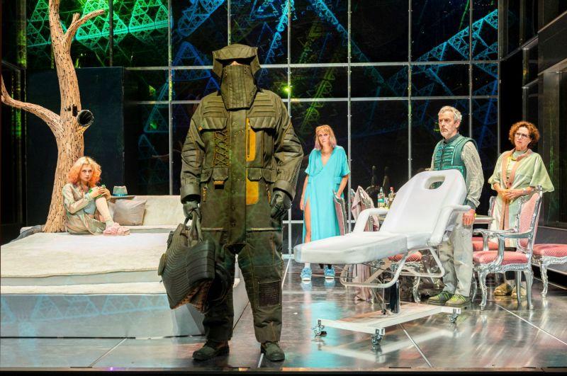 """Spektaklio """"Miegantys"""" (rež. Oskaras Koršunovas) repeticija. Dmitrijaus Matvejevo nuotrauka"""