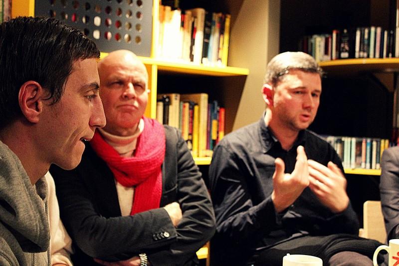 Marius Repšys, Vytautas Anužis, Audronis Liuga. Menų faktūros nuotrauka