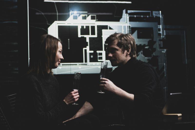 """Inga Šepetkaitė ir Valentinas Novopolskis spektaklyje """"Y"""". K. Krasilnikovos nuotrauka"""