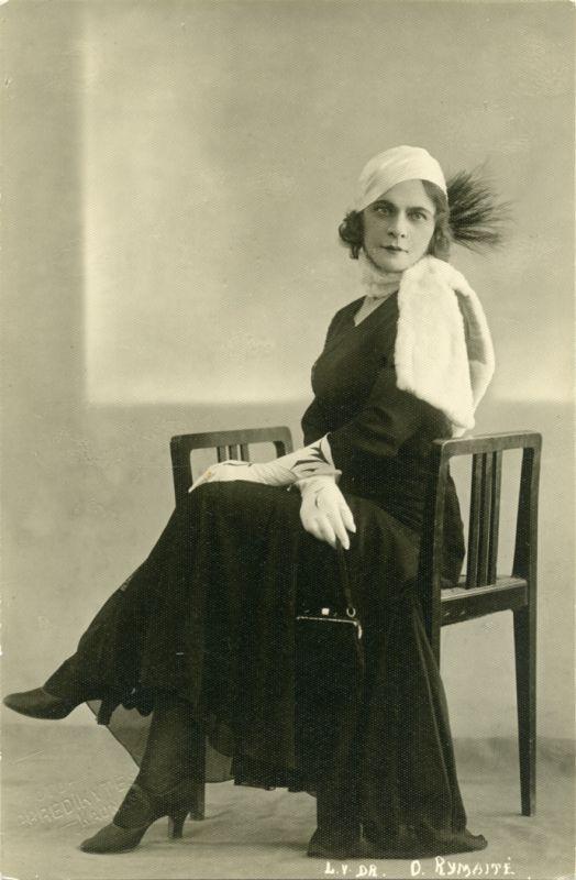 Ona Rymaitė. 1927 m. Nuotrauka iš Teatro, kino ir muzikos muziejaus archyvo