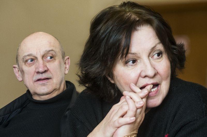 Eglė Gabrėnaitė ir Valentinas Masalskis Krystiano Lupos repeticijoje. Dmitrijaus Matvejevo nuotrauka