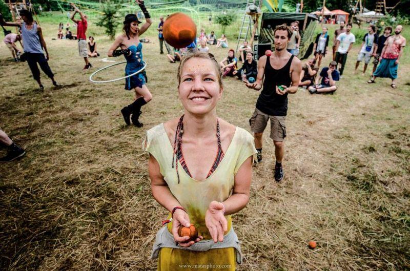 Žonglierė Urtė Šimkonytė. Asmeninio archyvo nuotrauka