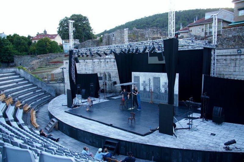 """""""Bado meistro"""" repeticija  Ribadavijos amfiteatre. Tauro Čižo nuotrauka"""