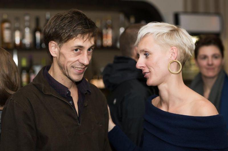 """Borisas Gibé, spektaklio """"L'absolu"""" kūrėjas ir Gintarė Masteikaitė, Naujojo cirko savaitgalio kūrėja. Dmitrijaus Matvejevo nuotrauka"""