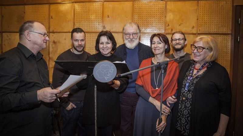 """Radijo vaidybinio serialo """"Vilius Karalius"""" kūrybinė grupė. Pauliaus Lileikio (lrt.lt) nuotrauka"""