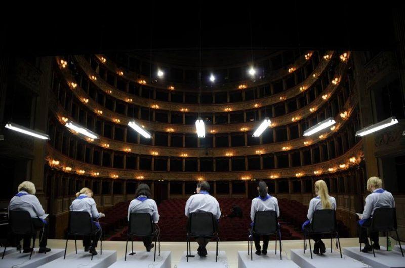 """Opera """"Geros dienos!"""" Romoje, """"Teatro Argentina"""" scenoje. Rugilės Barzdžiukaitės nuotrauka iš """"Operomanijos"""" archyvo"""