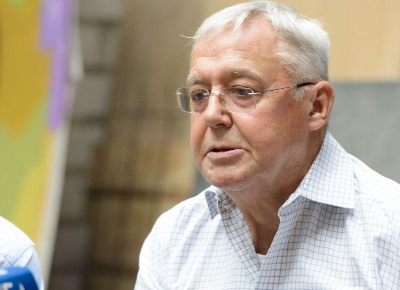 """Operos režisierius Graham Vick """"Idomenėjo"""" spaudos konferencijoje. Martyno Aleksos nuotrauka"""