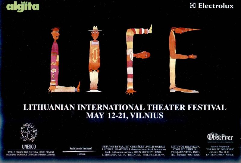 Rimvydo Kepežinsko sukurtas festivalio LIFE plakatas.